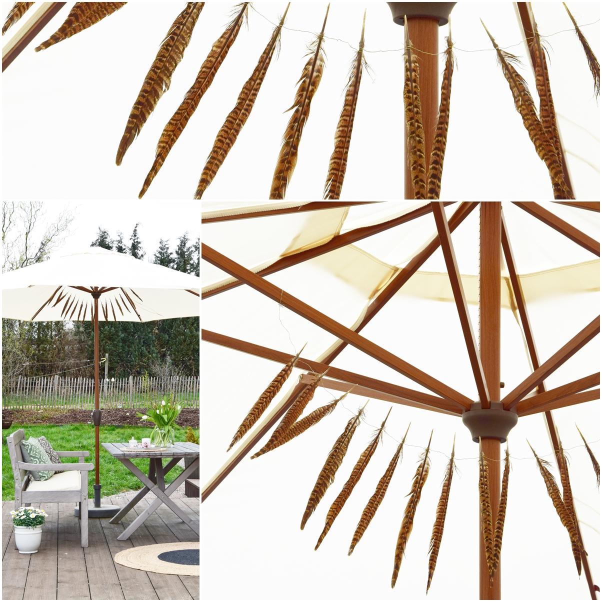 Terrasse Deko Dekoration Sommer Sonnenschirm Doppler Frühling