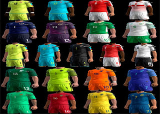 Kits: Austria, Netherlands, Ireland, Switzerland, Ukraine, Pes 2013