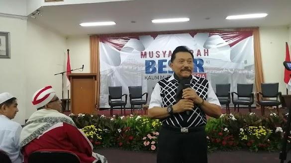 Hendropriyono Terima Laporan Gerakan Kedaulatan Rakyat akan Dibom