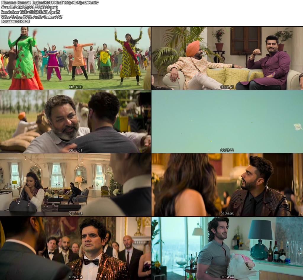 Namaste England 2018 Hindi 720p HDRip x264 | 480p 300MB | 100MB HEVC Screenshot