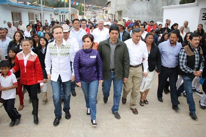 ALCALDE DE SCLC, GOBERNADOR DEL ESTADO Y TITULAR DE LA SEDATU INAUGURAN OBRAS DE BENEFICIO SOCIAL.