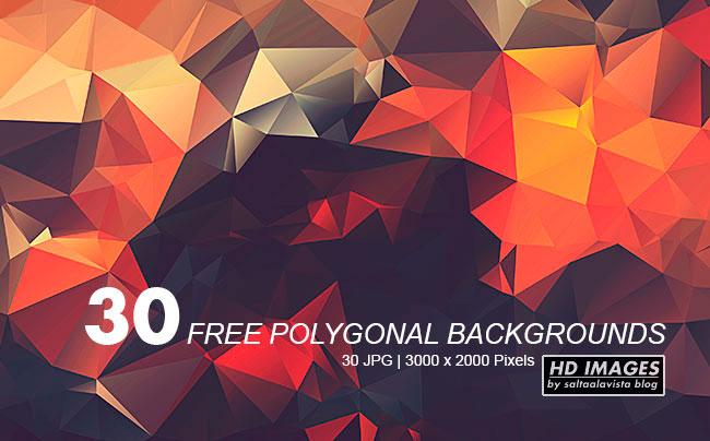 30 Fondos y Texturas Poligonales en HD