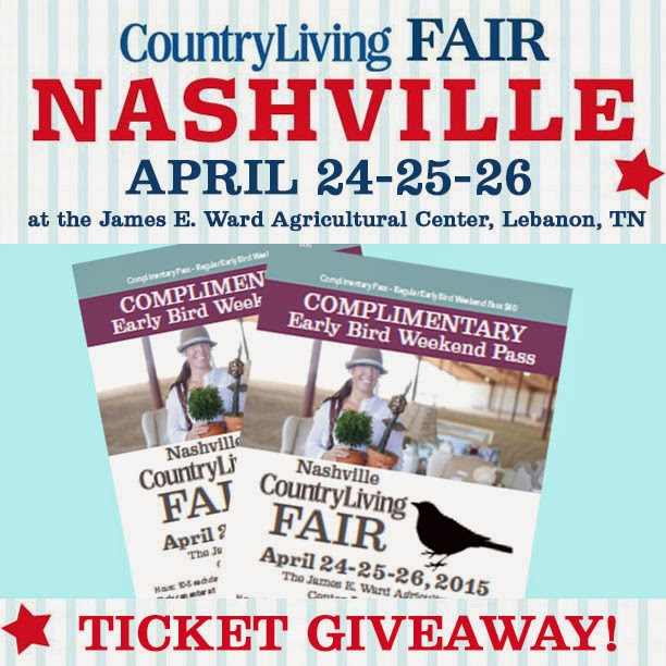 nashville Country Living Fair Ticket giveaway