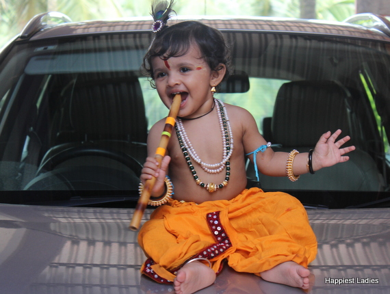 one year baby krishna costume