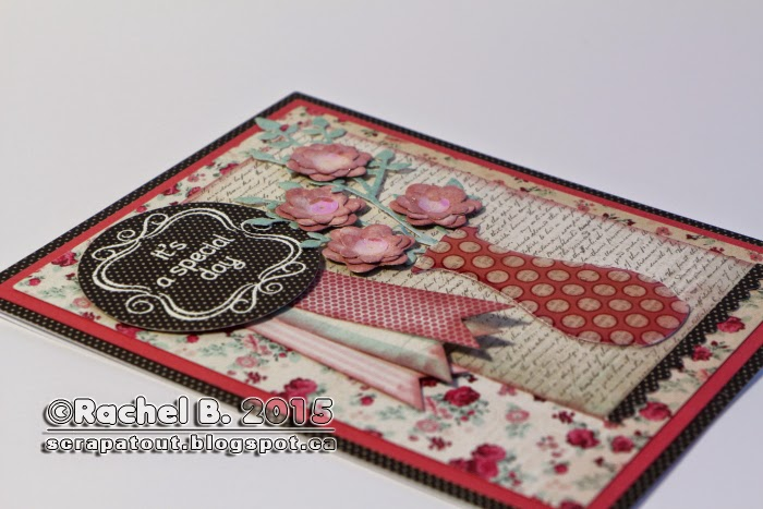 Handmade card, Impression Obsession, Hero Arts, Flowers