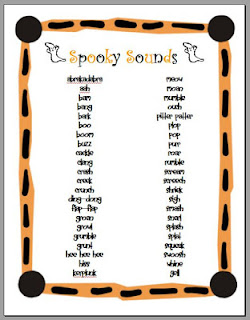teaching tlc ways to make writing fun  here are fun ideas for teaching onomatopoeia including a word list of spooky sounds to write a scary story