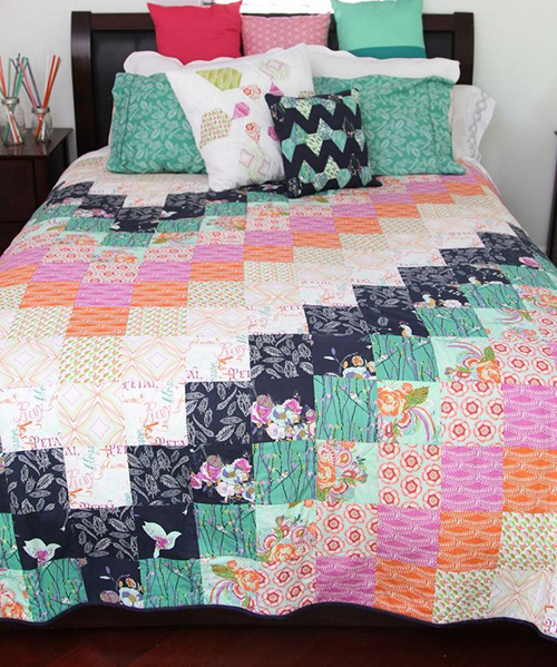 Petal and Plume Quilt designed by Bari J. of Art Gallery Fabrics