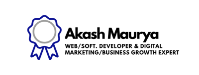 Web/Software Developer & Digital Marketing/Business Growth Expert | Akash Maurya