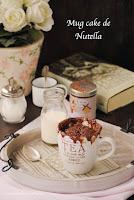 Mug cakes de Nutella
