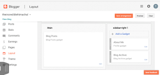 customize blogger theme's layouts