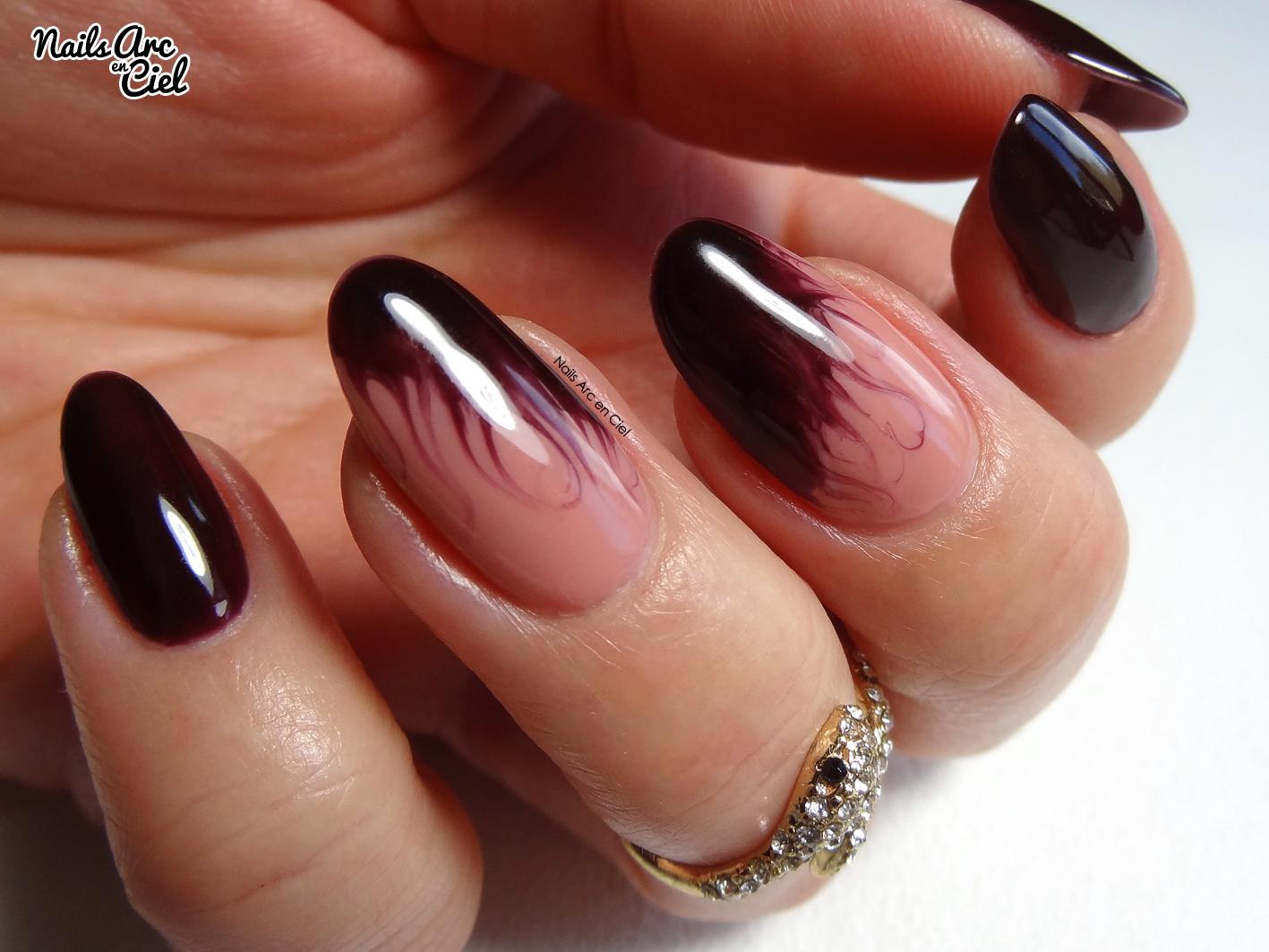 Extrêmement Nails Arc-en-ciel: Nail art - Effet flammes en vernis semi-permanent LO73