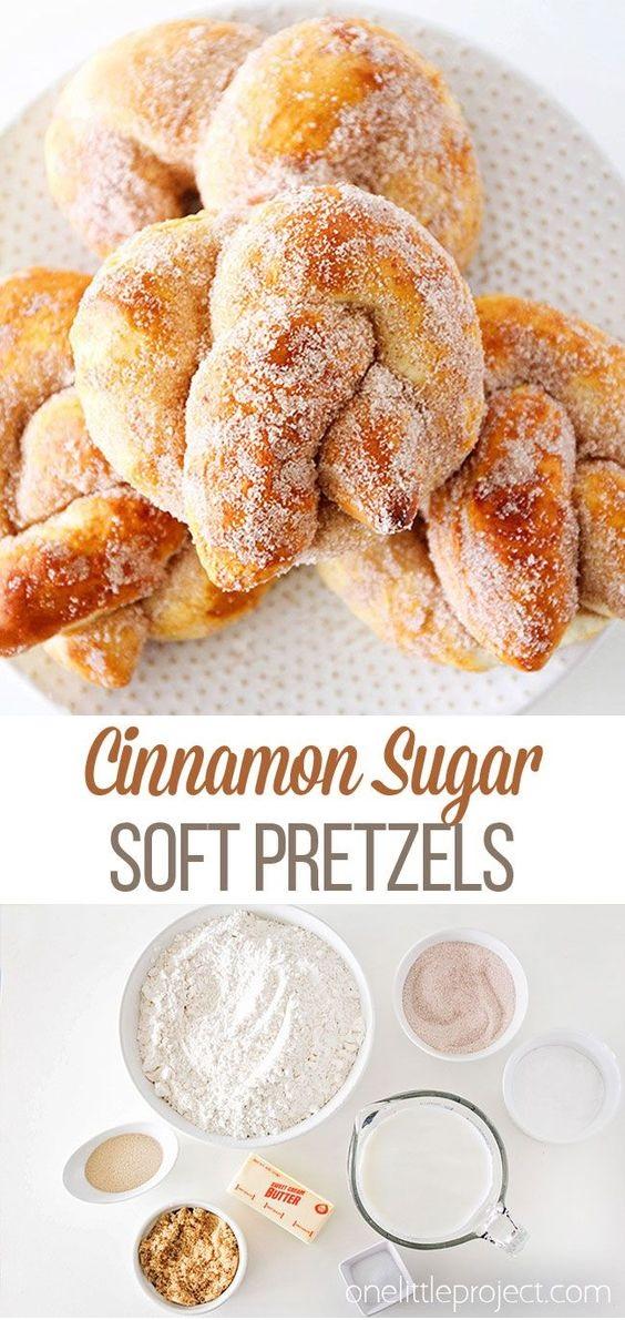 Cinnamon Sugar Soft Pretzels Recipe