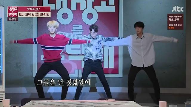 BTS Jin Jimin Tony H.O.T. Infinite Challenge