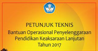 Juknis Bantuan Operasional Penyelenggaraan Pendidikan Keaksaraan Lanjutan 2017