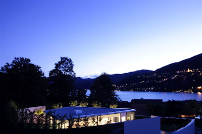 Glass pavilion house, Lake Lugano, Switzerland