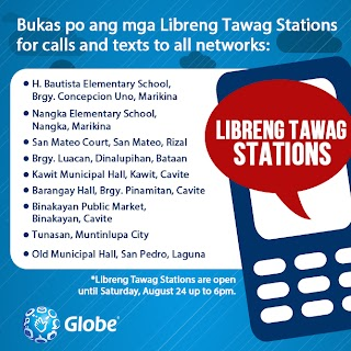 Globe offers Free Call and Texts to all networks on their Libreng Tawag Program