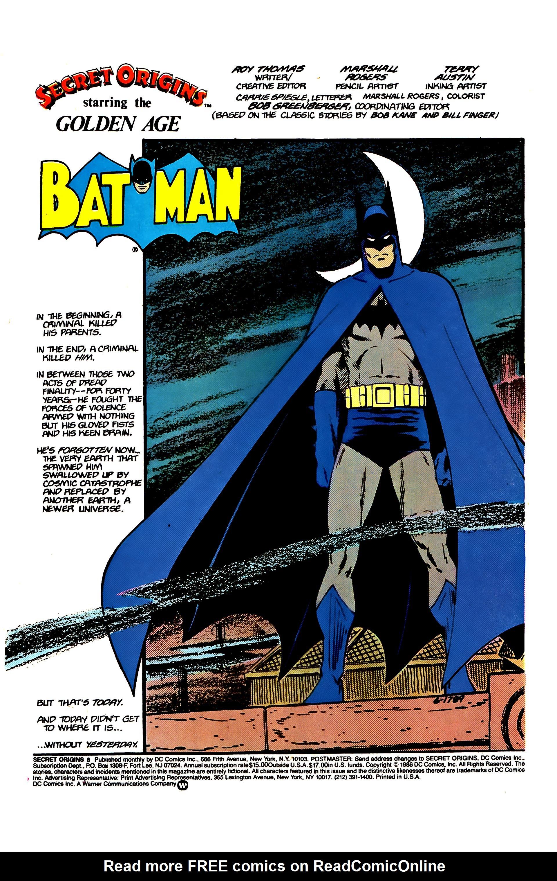 Read online Secret Origins (1986) comic -  Issue #6 - 3
