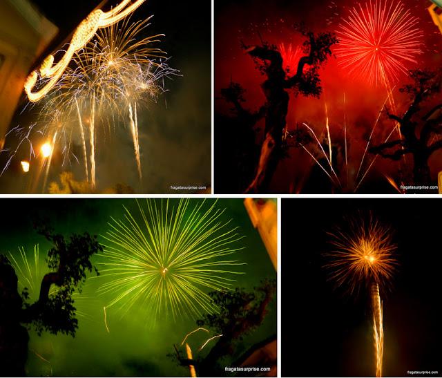 Queima de fogos em Amarante, na festa de São Gonçalo