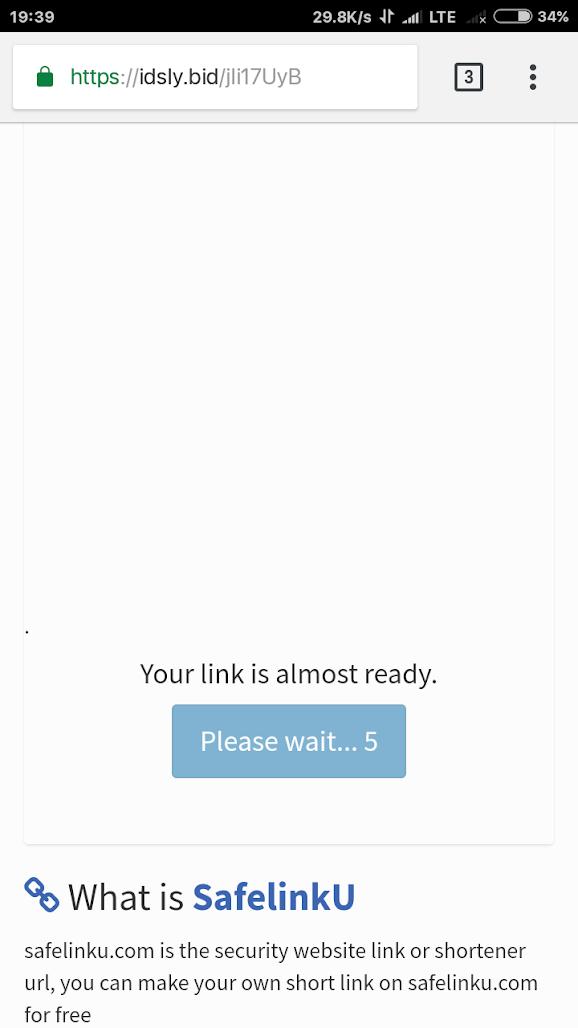 Cara Download File Safelinku 3