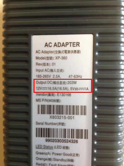 the ones to look out for are the 175w or 200w versions for the original xbox  360  the 'slim line' power supplies don't have a comparable power rating