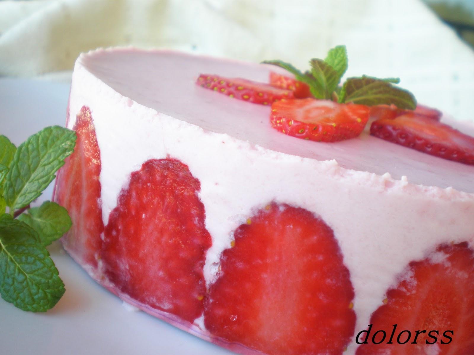 Semifrío de fresas con nata  8b75ac4aed3