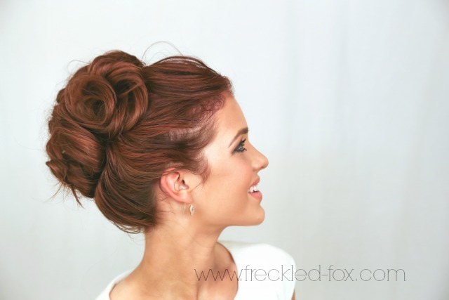 Peachy The Freckled Fox Wedding Hair Week High Curly Bun By Emily Meyers Hairstyles For Women Draintrainus