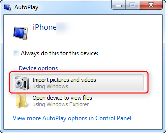 How to Copy Camera Roll Photos from iPhone to Windows 7