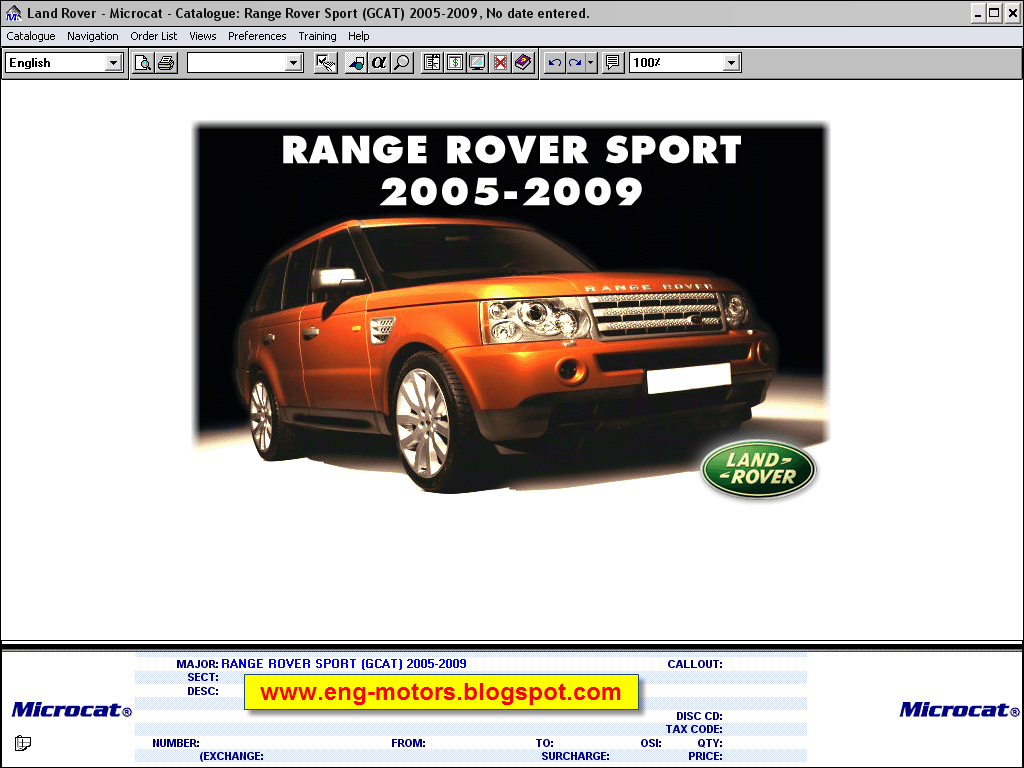 Service Spare Parts Catalog Land Rover Microcat 2012 Defender Catalogue And Accessories Contains Original For All Models Range Freelander Sport
