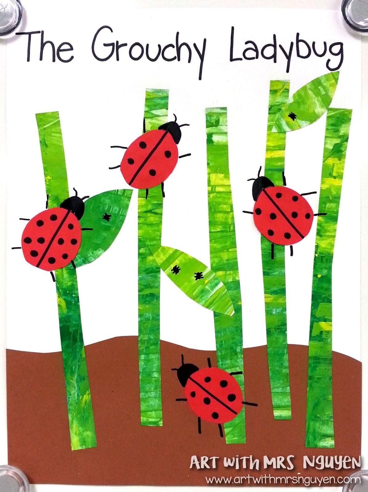 The Grouchy Ladybug Collage K