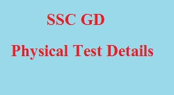ssc gd constable physical test date & result