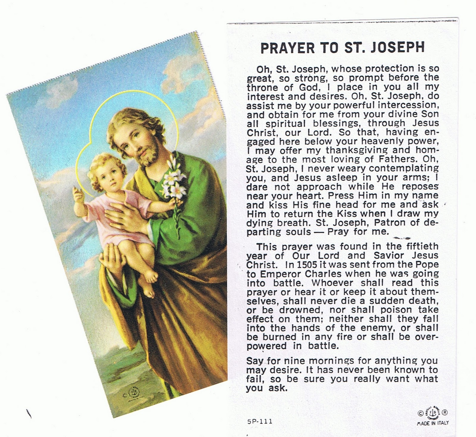 St joseph novena prayer for a good husband