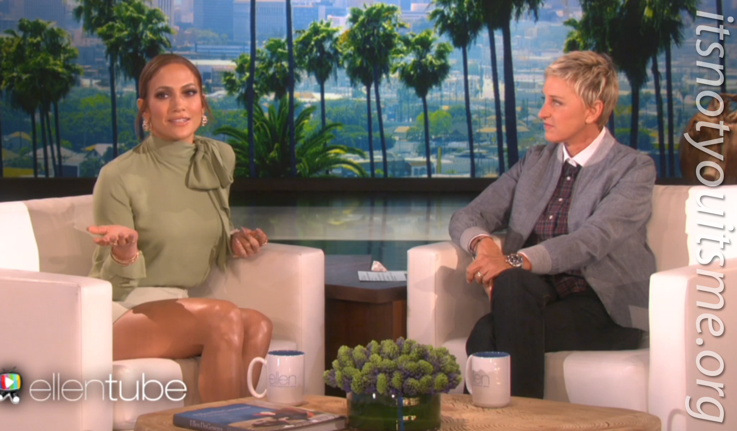 ItsNotYouItsMe Blog: JLo Talks, Beau family and Rabbits on Ellen