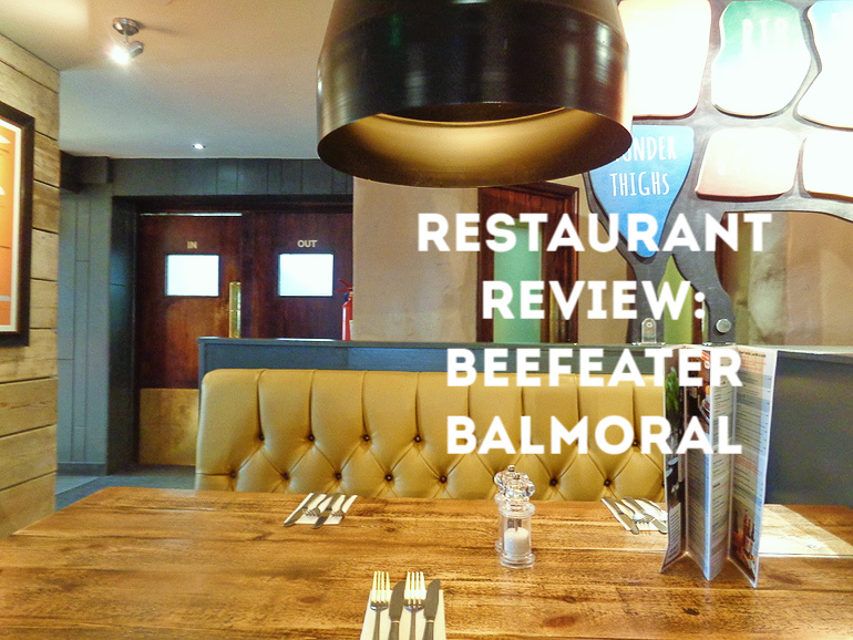 Restaurant Review Beefeater Balmoral Southampton