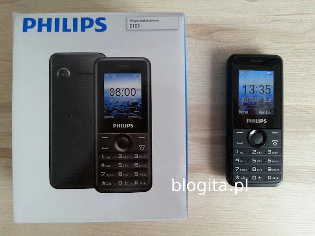 Philips e103 Xenium - telefon