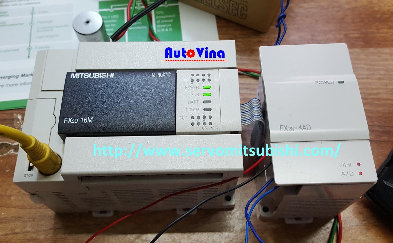 Module chuyển đối tín hiệu analog FX2N-4AD dùng được cho PLC FX3U-16MT