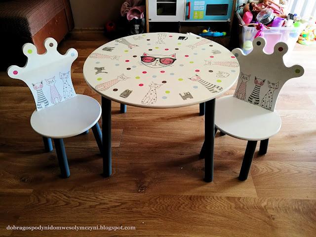 GOSPODYNI Z WIZYTĄ - 1 - odnawiamy stolik dla dziecka