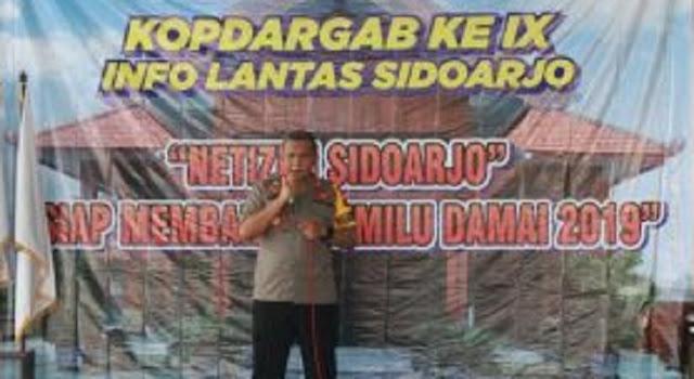 Sukseskan Pemilu 2019, Polresta Sidoarjo Ajak Netizen Perangi Hoax