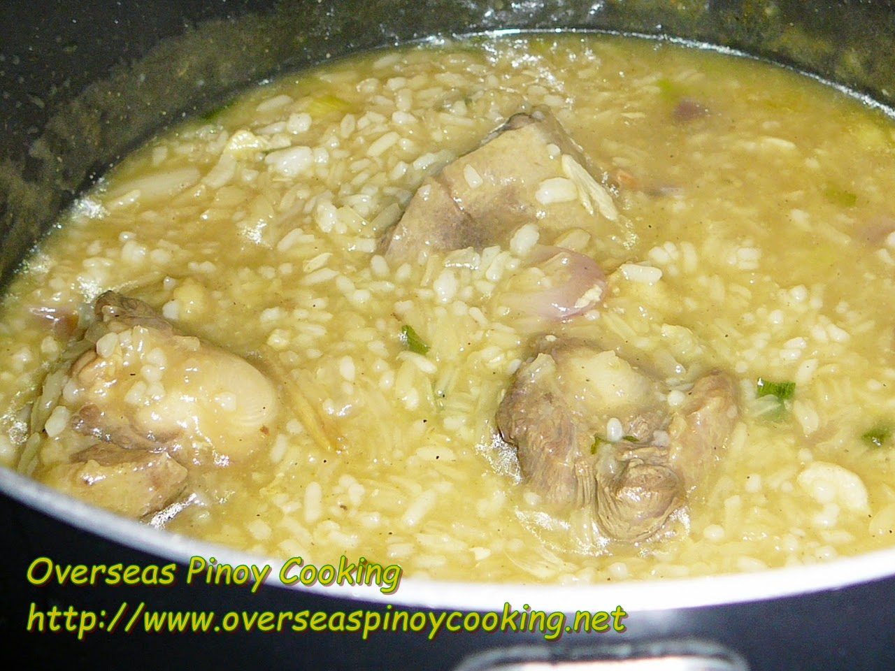 Oxtail Lugaw - Cooking Procedure