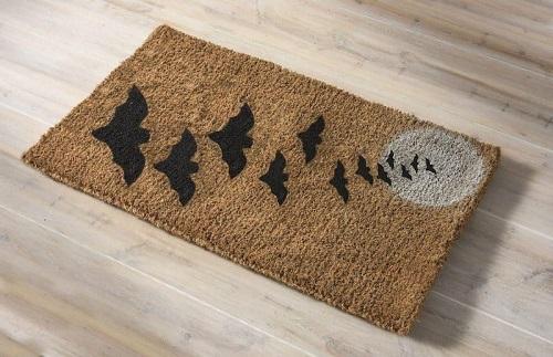make a simple halloween door mat