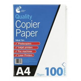 Under 5 pound A4 75gsm Paper Bright White Printer Copier Office Home Copy Printing (ebay)