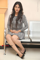 Actress Chandini Chowdary Pos in Short Dress at Howrah Bridge Movie Press Meet  0178.JPG