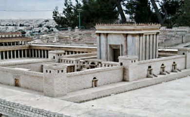 Mapa en relieve Tercer Templo