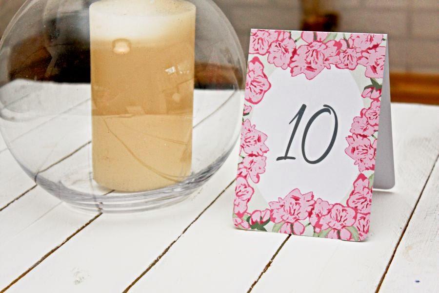 Numeracja stołów retro kwiaty Artirea