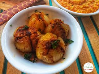 Stuffed onions bharwa kanda