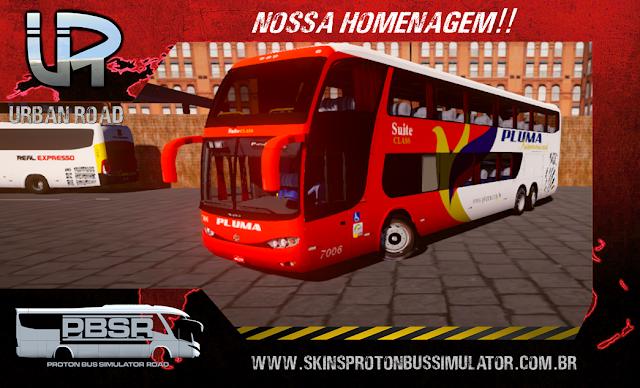 Skin Proton Bus Simulator - G6 1800 Scania K124 Viação Pluma Internacional