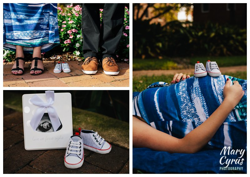 Madhavi & Pradeep's Maternity Portrait Session at SMU in Dallas, captured by Mary Cyrus Photography.