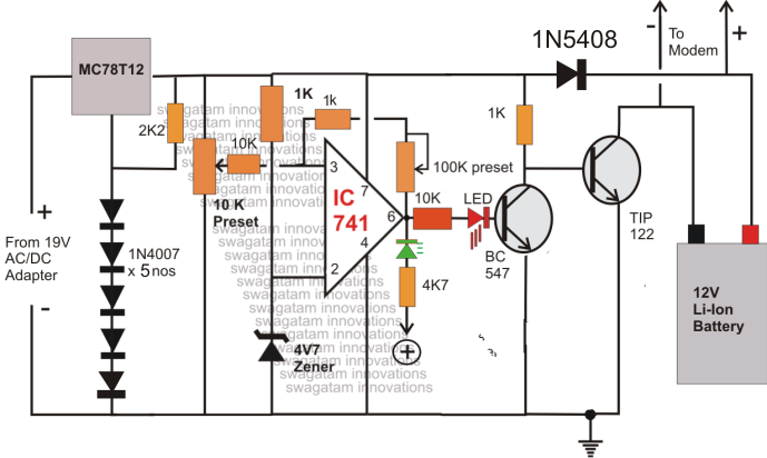 automatic micro ups circuit electronic circuit projects