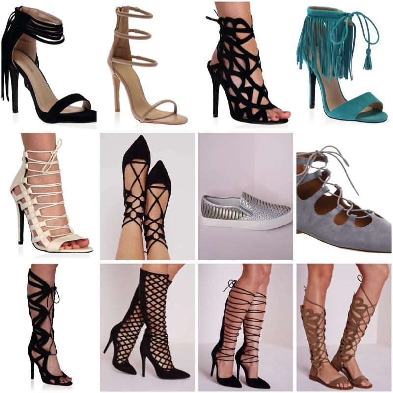289f5b0388403e Nikki Strappy Stilettos in Nude - Public Desire 3.) Jodi Cut Out Heels in  Black Faux Suede - Public Desire