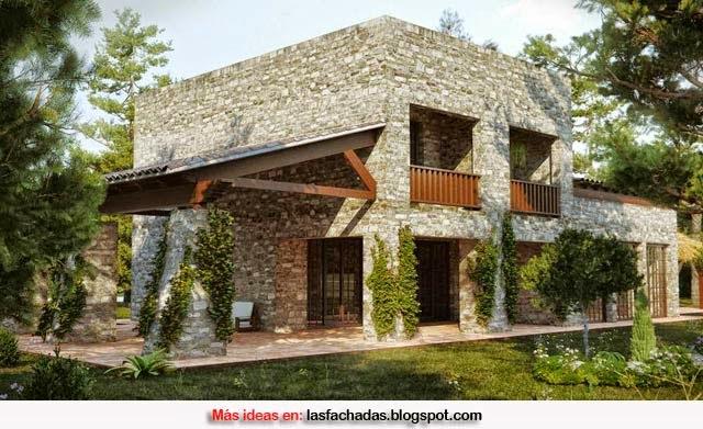 Fachadas de casas r sticas fachadas de casas y casas por - Entradas de casas rusticas ...