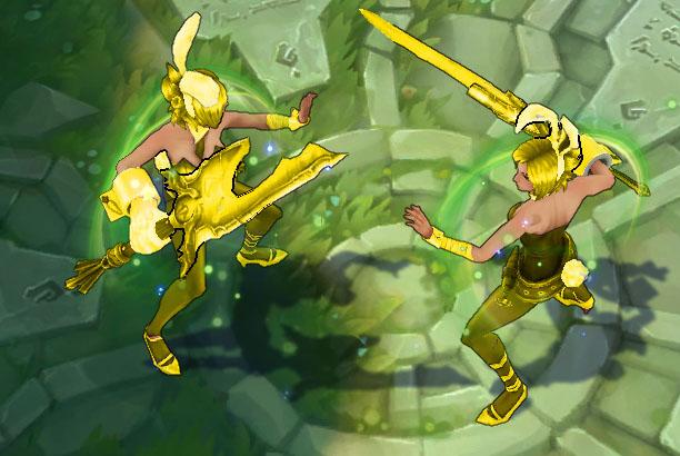 Mod Skin Riven Bunny Golden